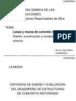Curso Seguridad Sísmica de las Construcciones para DRO, CENAPRED.