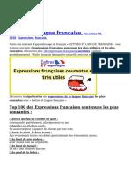 Top 100 des expressions françaises les plus utilisées
