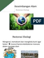 sistem keseimbangan alam -restorasi ekologi