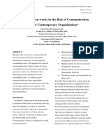 """""""How Persuasion works in the Role of Communication skills for Contemporary Organizations"""""""