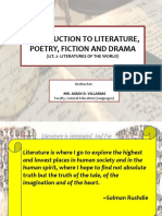World Literature (Intro to Lit)