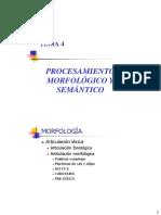 LyPTEMA4 PROCESAMIENTO MORFOLÓGICO Y SEMÁNTICO