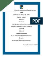 ESTRUCTURA SOCIAL DEL PERÚ