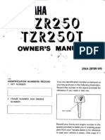 Yamaha-TZR 250-1987-Owners Manual