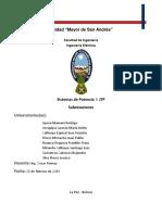 Subestaciones Informe