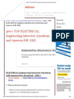 400+ TOP ELECTRICAL Engineering Interview Questions & Answers.pdf