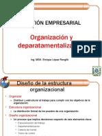 GESTION EMPRESARIAL. Organización y Departamentalización