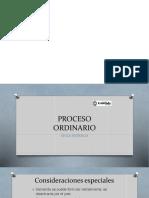Presentación del proceso ordinario