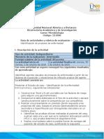 Guia de actividades y Rúbrica de evaluación - Unidad 2 - Caso 3 - Identificación de procesos de enfermedad