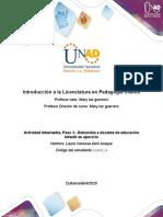 Formato 3 - Formato para la elaboración de la entrevista a un docente de educación infantil en ejercicio