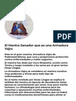 El Mantra Sanador que es una Armadura Vajra - Centros de meditación y budismo tibetano