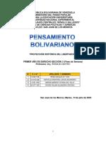 trabajo Pensamiento Bolivariano al 14 Jul 2020