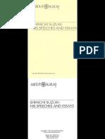 Shinichi Suzuki - His Speeches and Essays - Suzuki Method