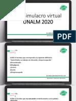 SIMULACRO VIRTUAL UNALM 2020 ppts