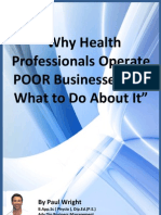 Why Health Professionals Operate Poor Businesses - e-Book