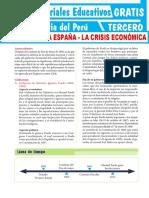 La-Crisis-Económica-de-la-Guerra-contra-España-para-Tercer-Grado-de-Secundaria