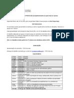 Programa do curso - 2° semestre de 2020
