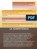 COMPETENCIA Y PARTES DEL PROCESO