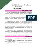 PAU Secuencia Didáctica de Octubre y Noviembre