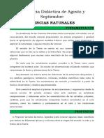 Secuencia Didáctica de Agosto y Septiembre de Ciencias Naturales - 2020