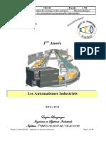 Cours d'Automatique  ITO BTS 1 2020