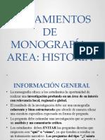 1  LINEAMIENTOS DE MONOGRAFÍA HISTORIA