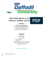 Internship Report on Loan & Advances of Bank Asia Limited