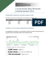 Statistieken social media Hans Mestrum voor HAN Techniek Januari 2011