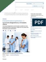 Los errores diagnósticos y el examen clínico - Página 1 - Artículos - IntraMed