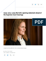 Read_ Amy Coney Barrett's Opening Statement Ahead of the Supreme Court Hearing (Full Text) - POLITICO