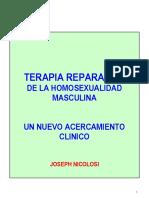 _Terapia reparativa de la homosexualidad masculina. Un nuevo acercamiento clínico_. Joseph Nicolosi.