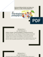 Evidiencias estrategias pedagógicas para el desarrollo del pensamiento
