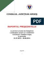 CJ Arges - Raportul Presedintelui 01 07 2013 - 30 06 2014