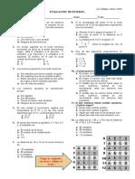evaluación números enteros 2019