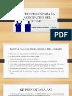 Z INSTRUCCIONES PARA EL DESARROLLO DEL DEBATE. MAYO 2.020.