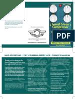 Forest Green Compressor manual