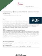 2002 - La perspective pragmatique dans l'étude du raisonnement et de la rationalité