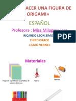 Como Hacer Una Figura de Origami