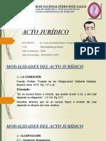 MODALIDADES DEL ACTO JURÍDICO