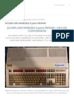 Acorn Archimedes A3000 Repair + Mouse Conversion