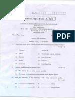 TE1-M14 Question Paper
