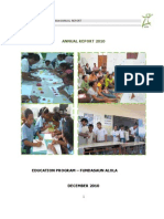Education and Literacy Program 2010 Annual Report