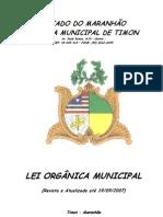 LEI ORGANICA - TIMON - MA