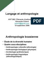 Langage et anthropologie