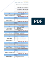 TIME TABLE ET DEPARTMENT