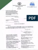 Supreme Court decision on political prisoner temporary release (Almonte vs People)