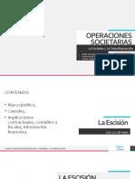 Operaciones Societarias - Escision y Transformacion (1)