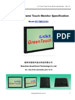 12.1 inch open frame touch monitor specification-G...