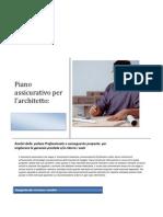 Comparazione tariffe e condizioni della polizza professionale in corso di un architetto.