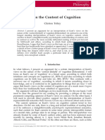 Tolley 2011 - Kant on the Content of Cognition.pdf